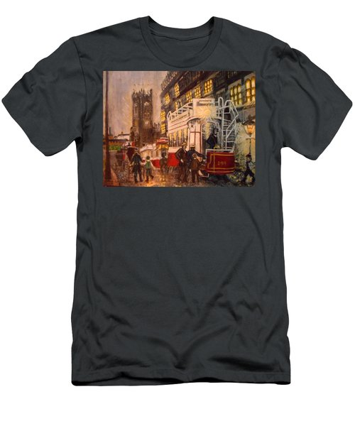 Deansgate With Tram Men's T-Shirt (Athletic Fit)
