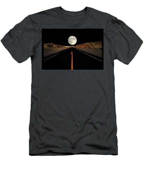 Death Valley Moon Rise Men's T-Shirt (Athletic Fit)