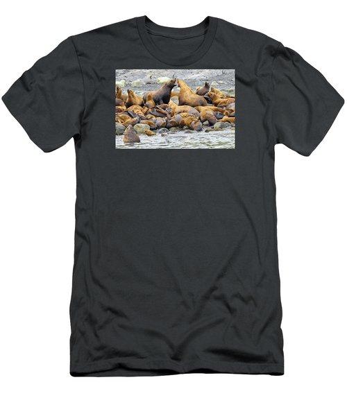 Debate Men's T-Shirt (Slim Fit) by Harold Piskiel