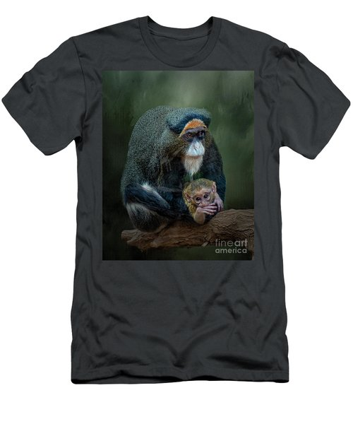 Debrazza's Monkey And Baby Men's T-Shirt (Athletic Fit)
