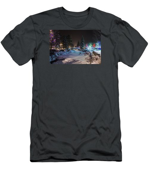 December On The Riverwalk Men's T-Shirt (Slim Fit) by Perspective Imagery