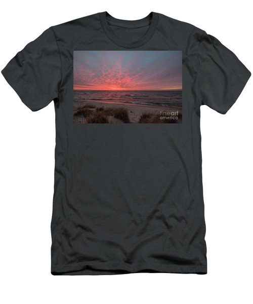 December Sunset On Lake Michigan Men's T-Shirt (Athletic Fit)