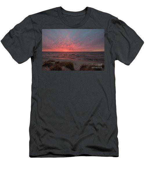 December Sunset On Lake Michigan Men's T-Shirt (Athletic Fit)