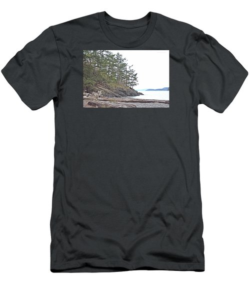 Deception Pass In Late December  Men's T-Shirt (Slim Fit) by Tobeimean Peter