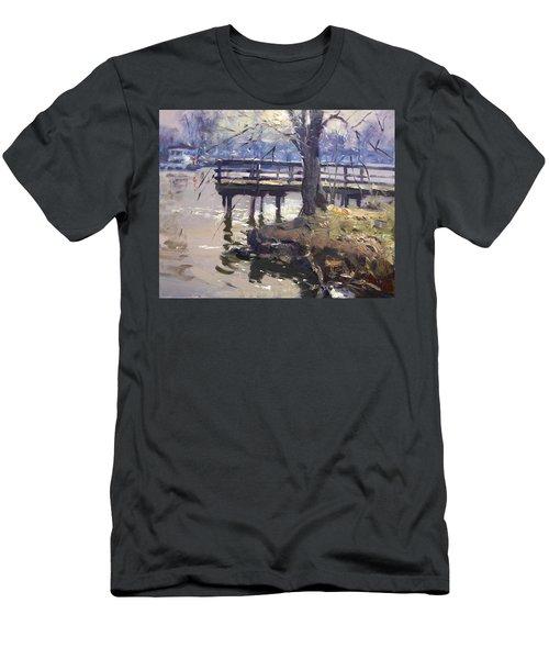Deck At Tonawanda Canal Men's T-Shirt (Athletic Fit)