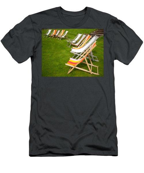 Deck Chairs Men's T-Shirt (Athletic Fit)