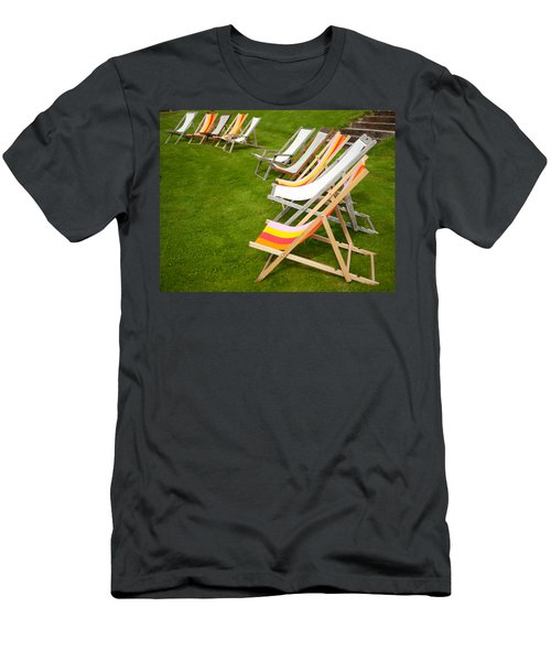 Deck Chairs Men's T-Shirt (Athletic Fit)