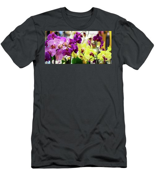 Decorative Orchids Still Life B82418 Men's T-Shirt (Athletic Fit)