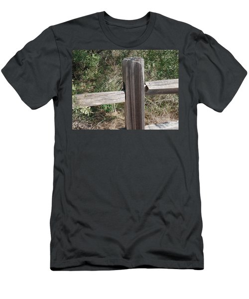 Men's T-Shirt (Slim Fit) featuring the photograph Decorative View - Central Texas Fence Line by Ray Shrewsberry