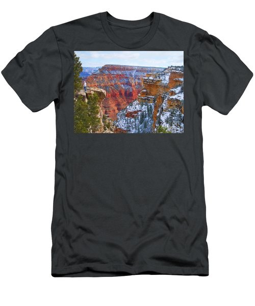Men's T-Shirt (Slim Fit) featuring the photograph Deep And Wide by Roberta Byram