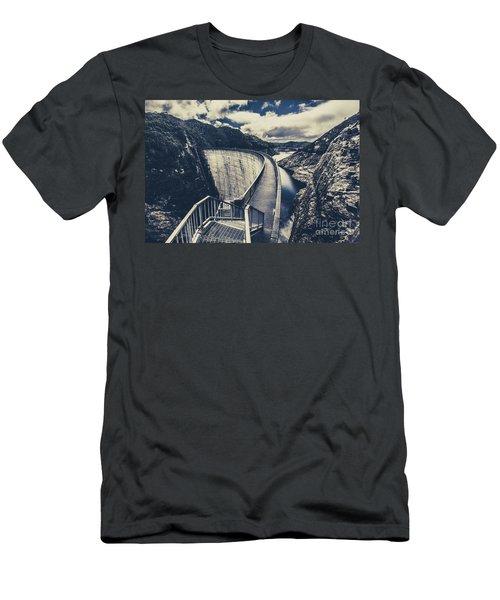 Deep Blue Ravine   Men's T-Shirt (Athletic Fit)