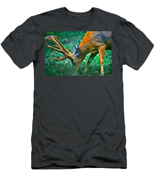 Deer At Lunch - Pa Men's T-Shirt (Athletic Fit)