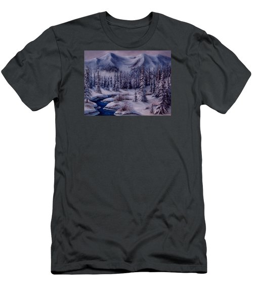 Deer Creek Men's T-Shirt (Slim Fit) by Katia Aho