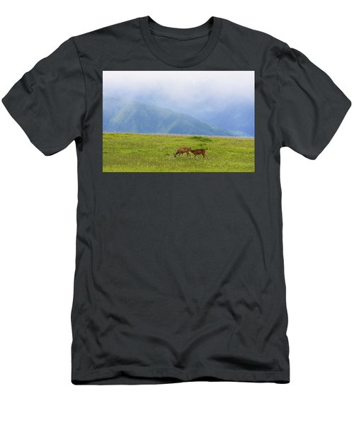 Deer In Browse Men's T-Shirt (Athletic Fit)