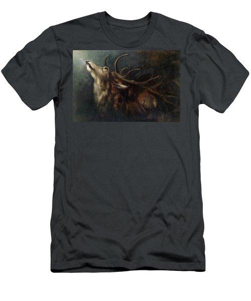 Dying Deer Men's T-Shirt (Athletic Fit)