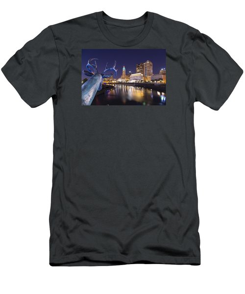 Men's T-Shirt (Slim Fit) featuring the photograph Deer View Columbus by Alan Raasch