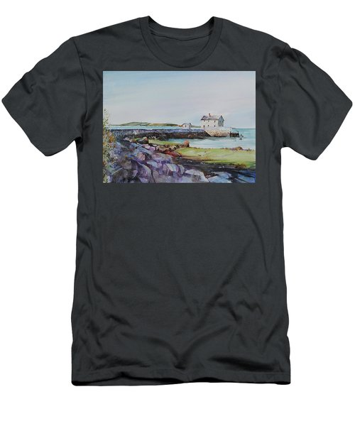 Delano's Wharf At Rock Nook Men's T-Shirt (Slim Fit) by P Anthony Visco