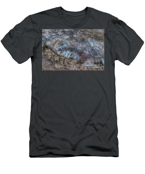 Delaware River Ice With Leaves Men's T-Shirt (Athletic Fit)