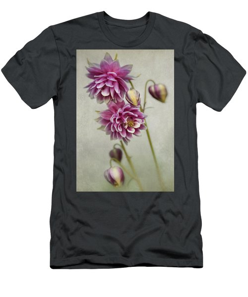 Men's T-Shirt (Athletic Fit) featuring the photograph Delicate Pink Columbine by Jaroslaw Blaminsky