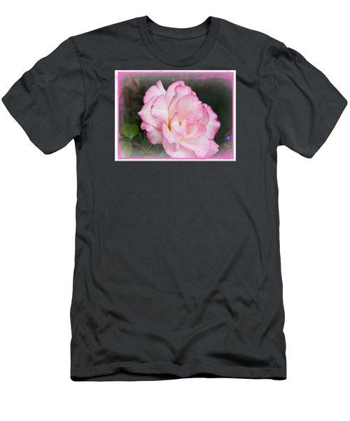 Delicate Pink Petals Men's T-Shirt (Athletic Fit)