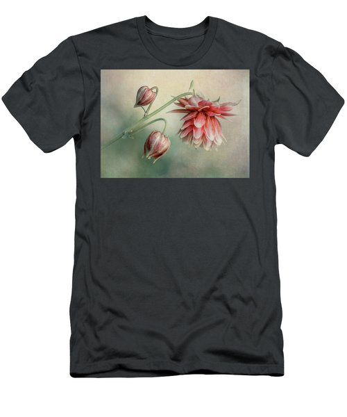 Men's T-Shirt (Athletic Fit) featuring the photograph Delicate Red Columbine by Jaroslaw Blaminsky
