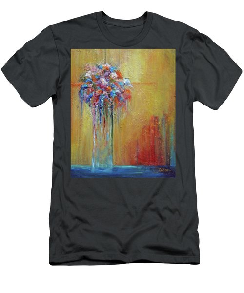 Delivered In Time Men's T-Shirt (Slim Fit) by Roberta Rotunda