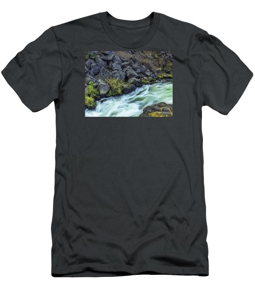 Deluge At The Falls Men's T-Shirt (Slim Fit) by Nancy Marie Ricketts