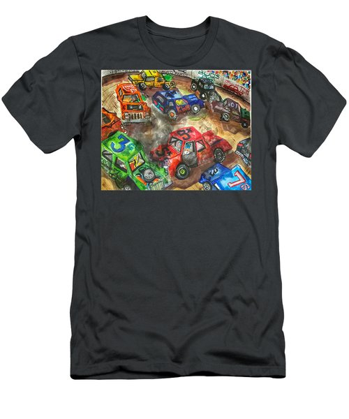 Demo Derby One Men's T-Shirt (Slim Fit) by Jame Hayes