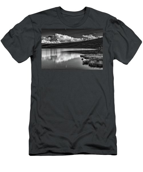 Denali Reflections In Black And White Men's T-Shirt (Athletic Fit)