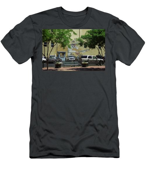Denver Cowboy Parking Men's T-Shirt (Slim Fit) by Frank Romeo