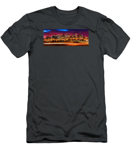 Denver Skyline Sunrise Men's T-Shirt (Athletic Fit)
