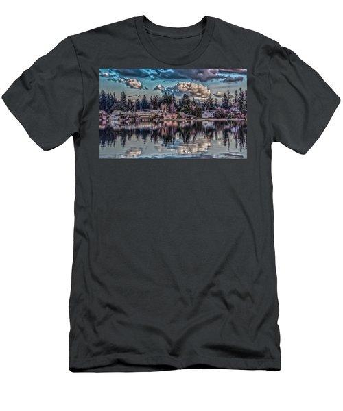Men's T-Shirt (Slim Fit) featuring the digital art Depot 8 by Timothy Latta