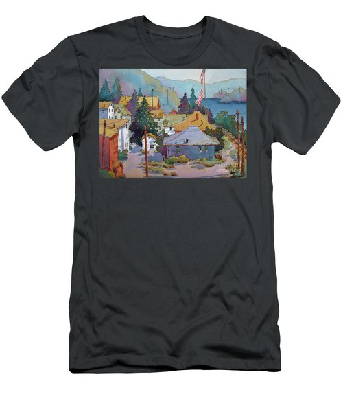 Depot By The River Men's T-Shirt (Athletic Fit)
