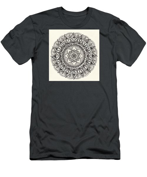 Men's T-Shirt (Slim Fit) featuring the drawing Des Tapestry Medallion by Kathy Sheeran