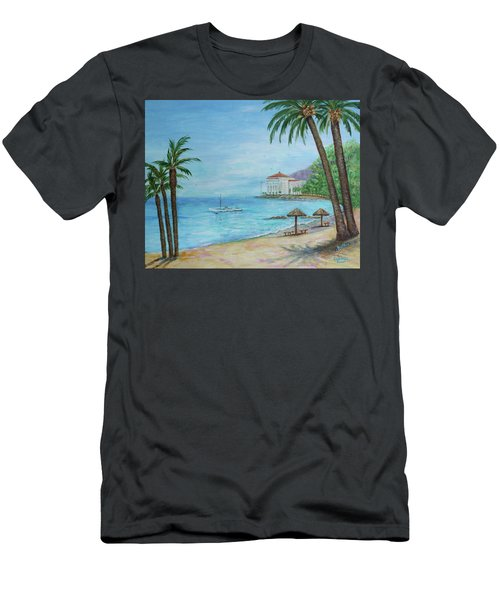 Descanso Beach, Catalina Men's T-Shirt (Athletic Fit)
