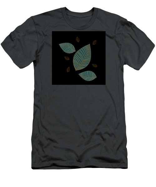 Men's T-Shirt (Slim Fit) featuring the drawing Descending Leaves by Kandy Hurley