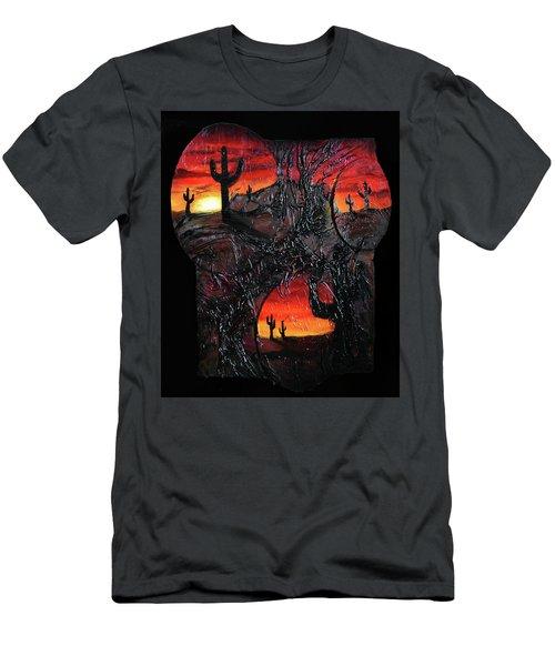 Desert Men's T-Shirt (Slim Fit) by Angela Stout