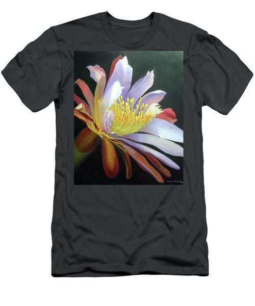 Desert Cactus Flower Men's T-Shirt (Athletic Fit)