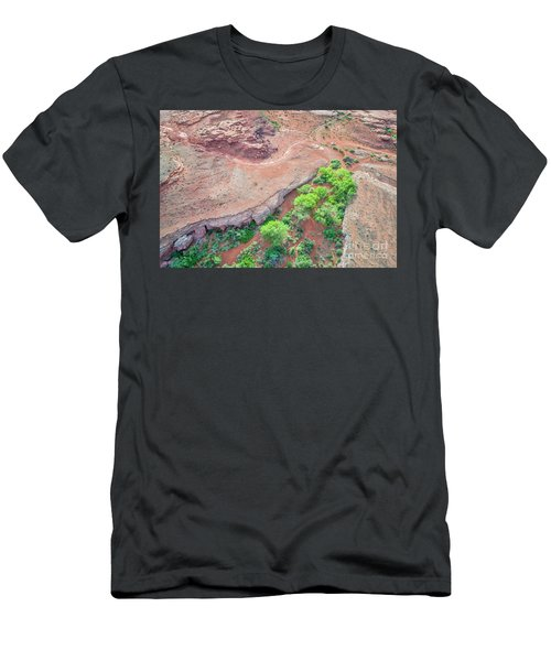 desert canyon in Utah aerial view Men's T-Shirt (Athletic Fit)