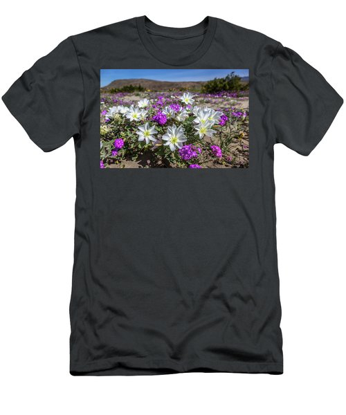 Men's T-Shirt (Slim Fit) featuring the photograph Desert Super Bloom 2017 by Peter Tellone