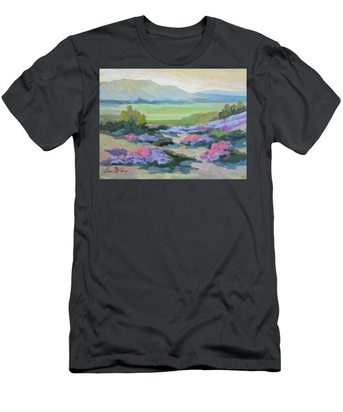 Men's T-Shirt (Slim Fit) featuring the painting Desert Verbena 1 by Diane McClary