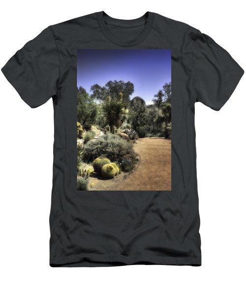 Men's T-Shirt (Slim Fit) featuring the photograph Desert Walkway by Lynn Geoffroy
