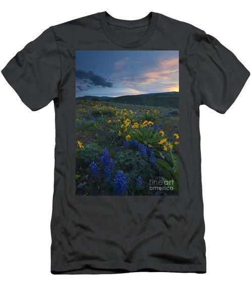 Desert Wildflower Sunset Men's T-Shirt (Athletic Fit)