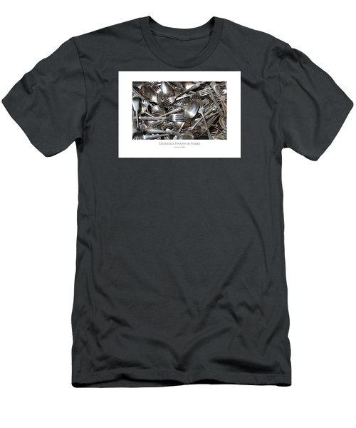 Men's T-Shirt (Athletic Fit) featuring the digital art Deserted Spoons And Forkes by Julian Perry