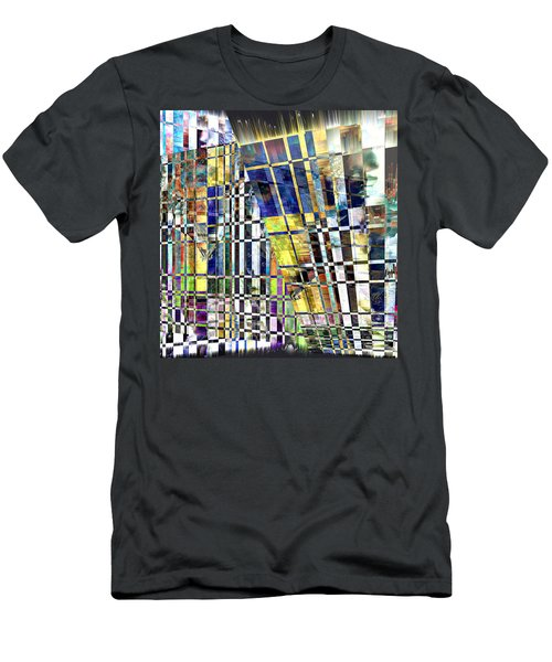 Men's T-Shirt (Slim Fit) featuring the digital art Desperate Reflections by Seth Weaver