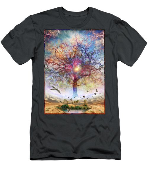 Dessert Of Forgotten Tree Men's T-Shirt (Athletic Fit)