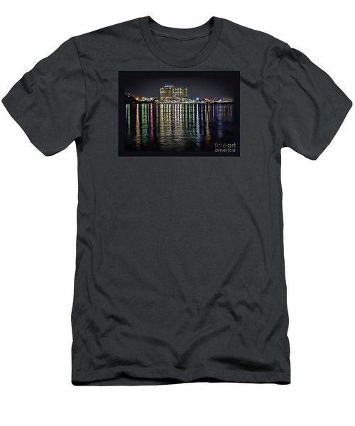 Destin Night Across The Estuary Men's T-Shirt (Slim Fit) by Walt Foegelle