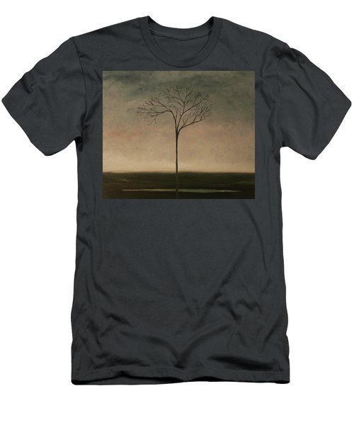 Men's T-Shirt (Slim Fit) featuring the painting Det Lille Treet - The Little Tree by Tone Aanderaa