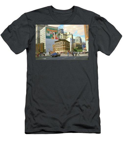 Detroit Michigan 84 - Watercolor Men's T-Shirt (Athletic Fit)