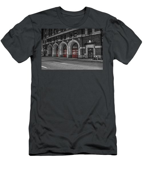 Detroit Fire Department Headquarters  Men's T-Shirt (Athletic Fit)
